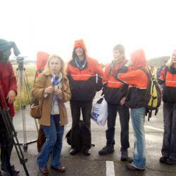 Смотр отрядов добровольных спасателей.