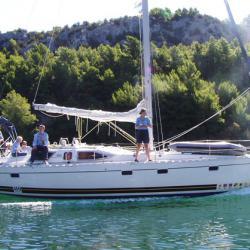 Одна из наших двух яхт на реке Крка