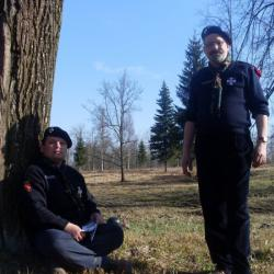 Скм. скм. Петр Тищенко и Сергей Тарасов на юбилейном бивуаке